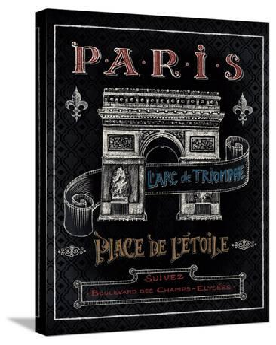 Travel to Paris II-Daphne Brissonnet-Stretched Canvas Print