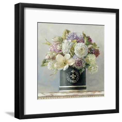 Tulips in Black and White Hatbox-Danhui Nai-Framed Art Print