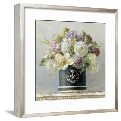 Tulips in Black and White Hatbox-Danhui Nai-Framed Art Print