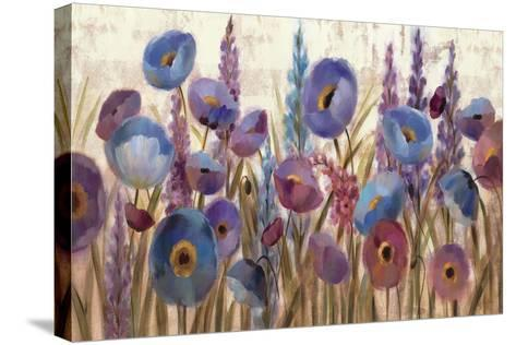 Lupines and Poppies-Silvia Vassileva-Stretched Canvas Print