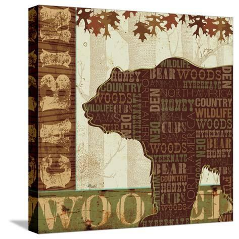 Woodland Words II-Jess Aiken-Stretched Canvas Print