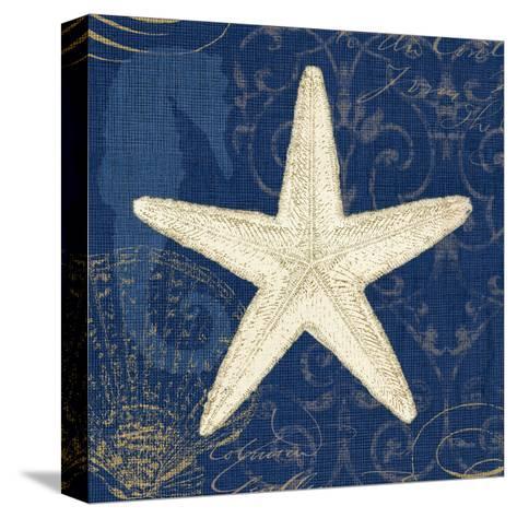 Coastal Moonlight I Teal Center-Pela Design-Stretched Canvas Print