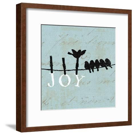 Birds on a Wire Square-Pela Design-Framed Art Print
