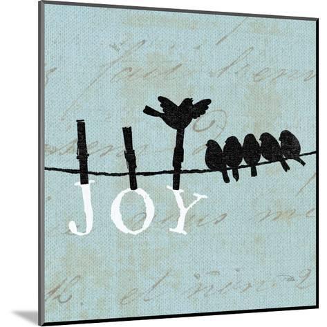Birds on a Wire Square-Pela Design-Mounted Art Print