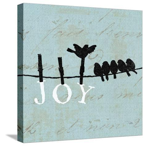 Birds on a Wire Square-Pela Design-Stretched Canvas Print