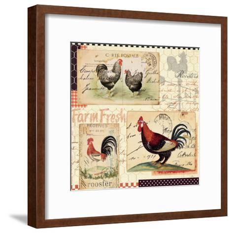 Rooster Farm II-Pela Design-Framed Art Print