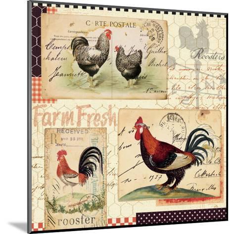 Rooster Farm II-Pela Design-Mounted Art Print