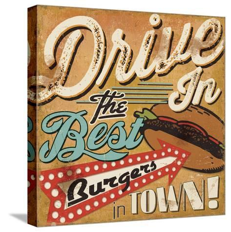 Diners and Drive Ins I-Pela Design-Stretched Canvas Print