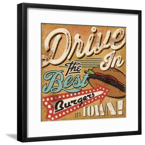Diners and Drive Ins I-Pela Design-Framed Art Print