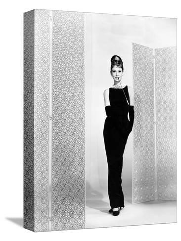 """Audrey Hepburn. """"Breakfast At Tiffany's"""" 1961, Directed by Blake Edwards--Stretched Canvas Print"""