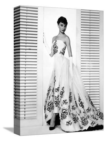 """Audrey Hepburn. """"Sabrina Fair"""" 1954, """"Sabrina"""" Directed by Billy Wilder. Custome by Edith Head--Stretched Canvas Print"""