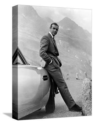 """Sean Connery. """"007, James Bond: Goldfinger"""" 1964, """"Goldfinger"""" Directed by Guy Hamilton--Stretched Canvas Print"""