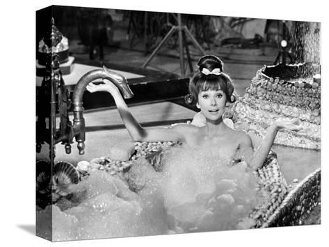 "Audrey Hepburn. ""Together In Paris"" 1964, ""Paris-when It Sizzles"" Directed by Richard Quine--Stretched Canvas Print"