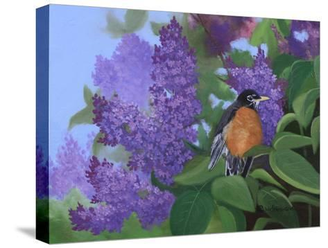 Lilacs Robin-Julie Peterson-Stretched Canvas Print