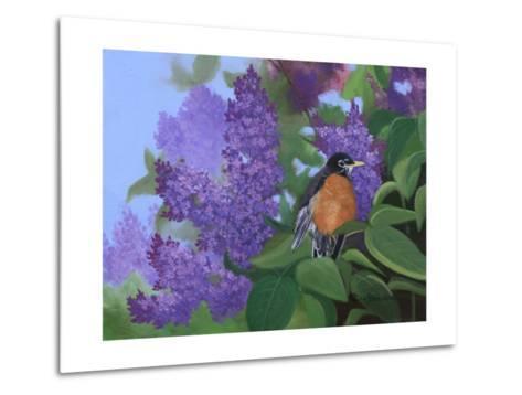 Lilacs Robin-Julie Peterson-Metal Print