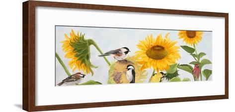Sunflowers and Birds-Julie Peterson-Framed Art Print