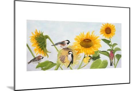 Sunflowers and Birds-Julie Peterson-Mounted Art Print