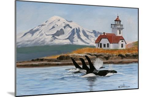 Patos Lighthouse and Orcas-Julie Peterson-Mounted Art Print