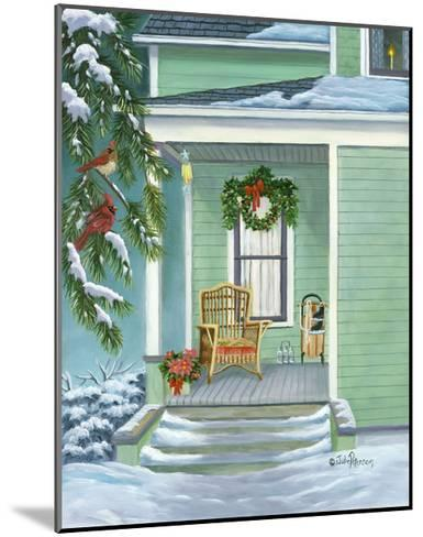 Cardinals and Christmas Porch-Julie Peterson-Mounted Art Print