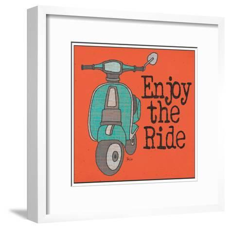Vespa - Enjoy the Ride-Shanni Welch-Framed Art Print