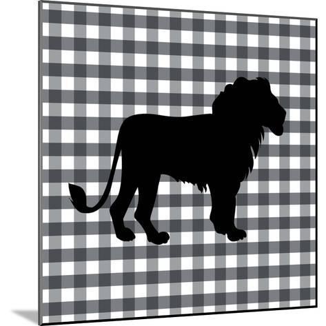 Lion-Linda Woods-Mounted Art Print