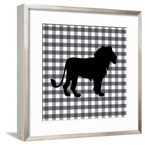 Lion-Linda Woods-Framed Art Print