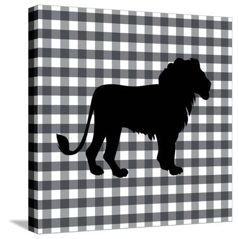 Lion-Linda Woods-Stretched Canvas Print