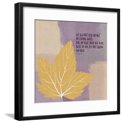 Galations 69 Doing Good-Linda Woods-Framed Art Print