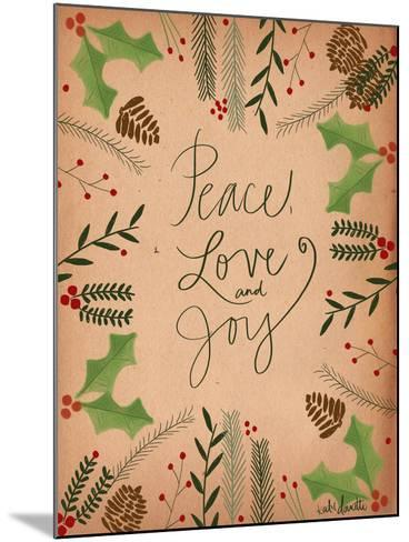 Peace Love Joy-Katie Doucette-Mounted Art Print