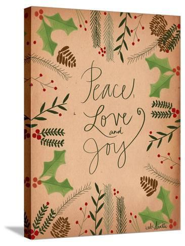 Peace Love Joy-Katie Doucette-Stretched Canvas Print