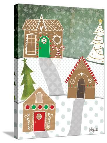 Gingerbread Houses-Katie Doucette-Stretched Canvas Print