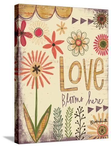 Love Blooms Here-Katie Doucette-Stretched Canvas Print