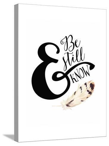 Be Still and Know Feather-Tara Moss-Stretched Canvas Print