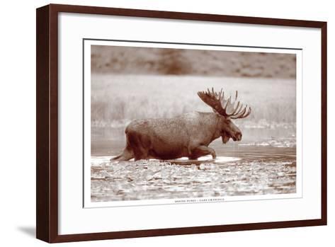 Sepia Moose-Gary Crandall-Framed Art Print