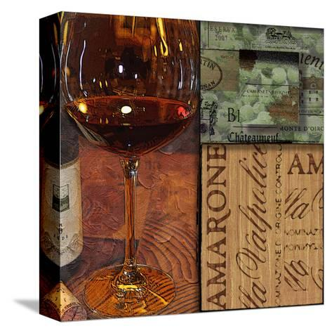 Amarone Wine Night II-Lisa Wolk-Stretched Canvas Print