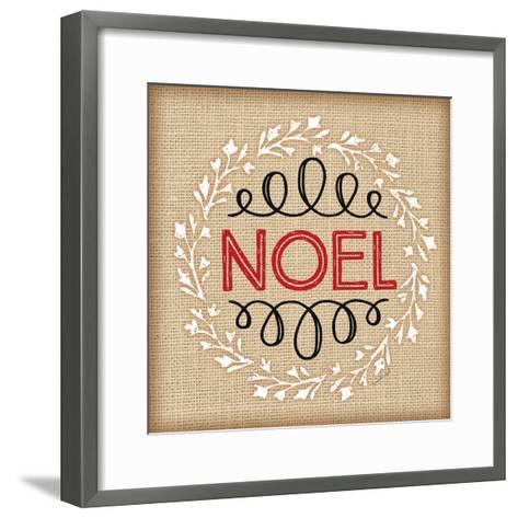 Burlap Noel-Jennifer Pugh-Framed Art Print