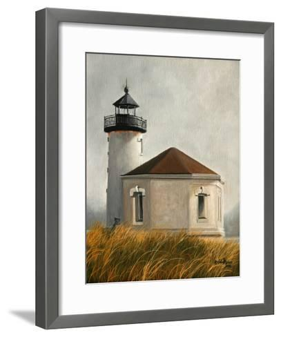 Coquil Lighthouse-Julie Peterson-Framed Art Print