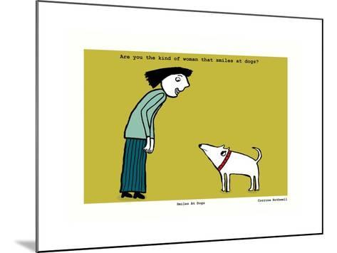 Smiles at Dogs (Yellow)-Corrina Rothwell-Mounted Giclee Print