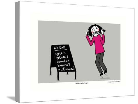 Apostrophe Rage (Grey)-Corrina Rothwell-Stretched Canvas Print