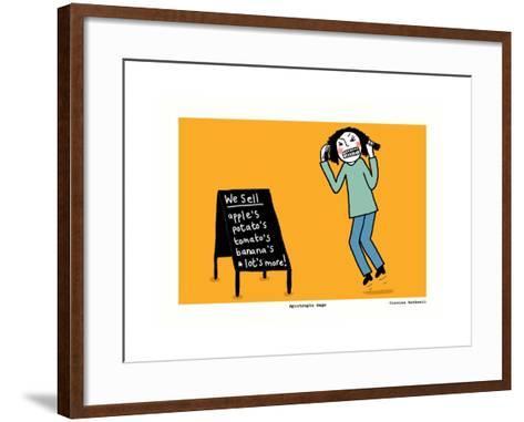 Apostrophe Rage (Yellow)-Corrina Rothwell-Framed Art Print