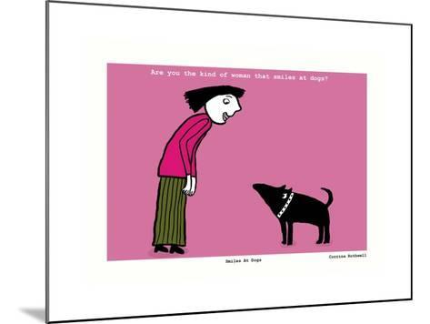 Smiles at Dogs (Pink)-Corrina Rothwell-Mounted Giclee Print