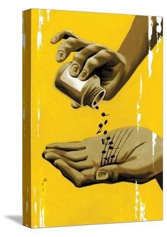 Musical Healing-Thomas Fuchs-Stretched Canvas Print