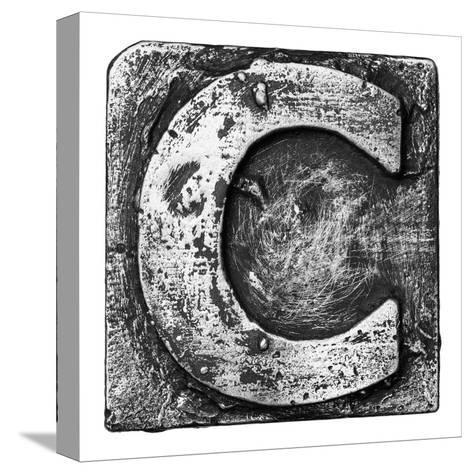 Metal Alloy Alphabet Letter C-donatas1205-Stretched Canvas Print