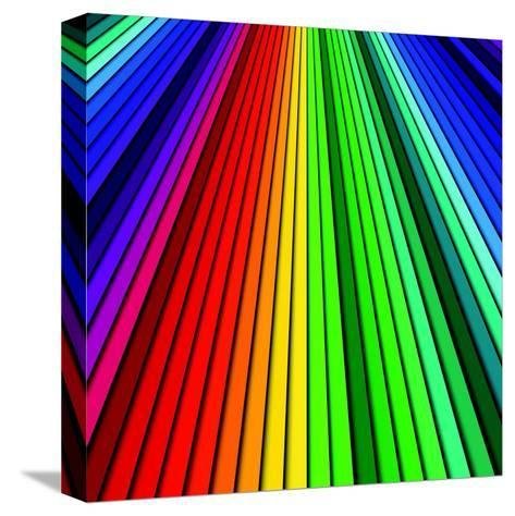 Abstract Color Background Spectrum Lines-Lukas Kurka-Stretched Canvas Print