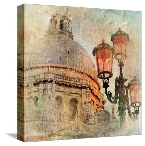 Venetian Pictures - Artwork In Painting Style-Maugli-l-Stretched Canvas Print