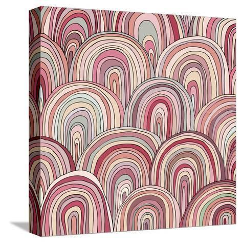 Colorful Circle Modern Abstract Design Pattern-Melindula-Stretched Canvas Print