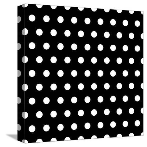 Black And White Dots Background- poofy-Stretched Canvas Print