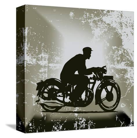 Vintage Motorcycle Background-Petrafler-Stretched Canvas Print
