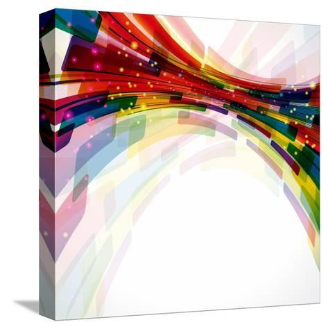Multicolor Abstract Bright Background. Elements For Design-OlgaYakovenko-Stretched Canvas Print