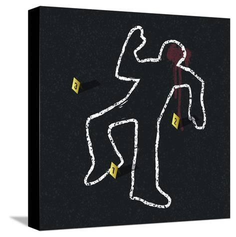Crime Scene Illustration-pashabo-Stretched Canvas Print